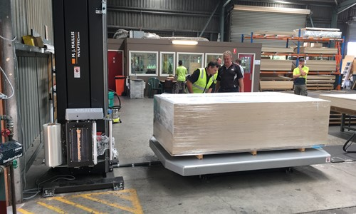 Wulftec Stretch Wrapping Solution for a Plywood Manufacturer